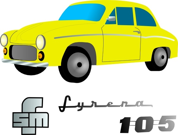 Yellow car clipart free graphic black and white download Yellow Car clip art Free vector in Open office drawing svg ... graphic black and white download