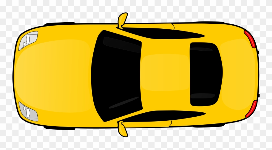 Yellow car top view clipart banner transparent Top Down Racing Game With Book & Assets - Car Clipart Top ... banner transparent