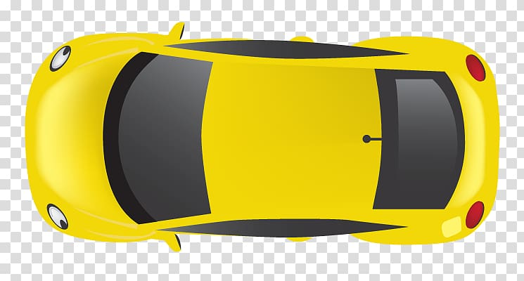 Yellow car top view clipart graphic freeuse download Yellow Volkswagen New Beetle illustration, Car door Mercedes ... graphic freeuse download