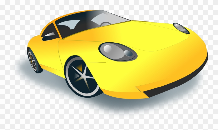 Yellow car top view clipart vector black and white Car Clipart Clipart Yellow Car - Sport Cars Clip Art - Png ... vector black and white