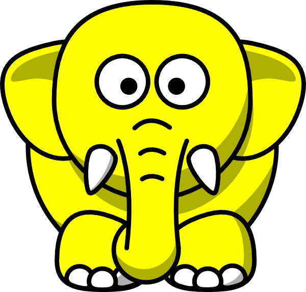 Yellow cat clipart royalty free stock Yellow Elephant Clip Art at Clker.com - vector clip art online ... royalty free stock