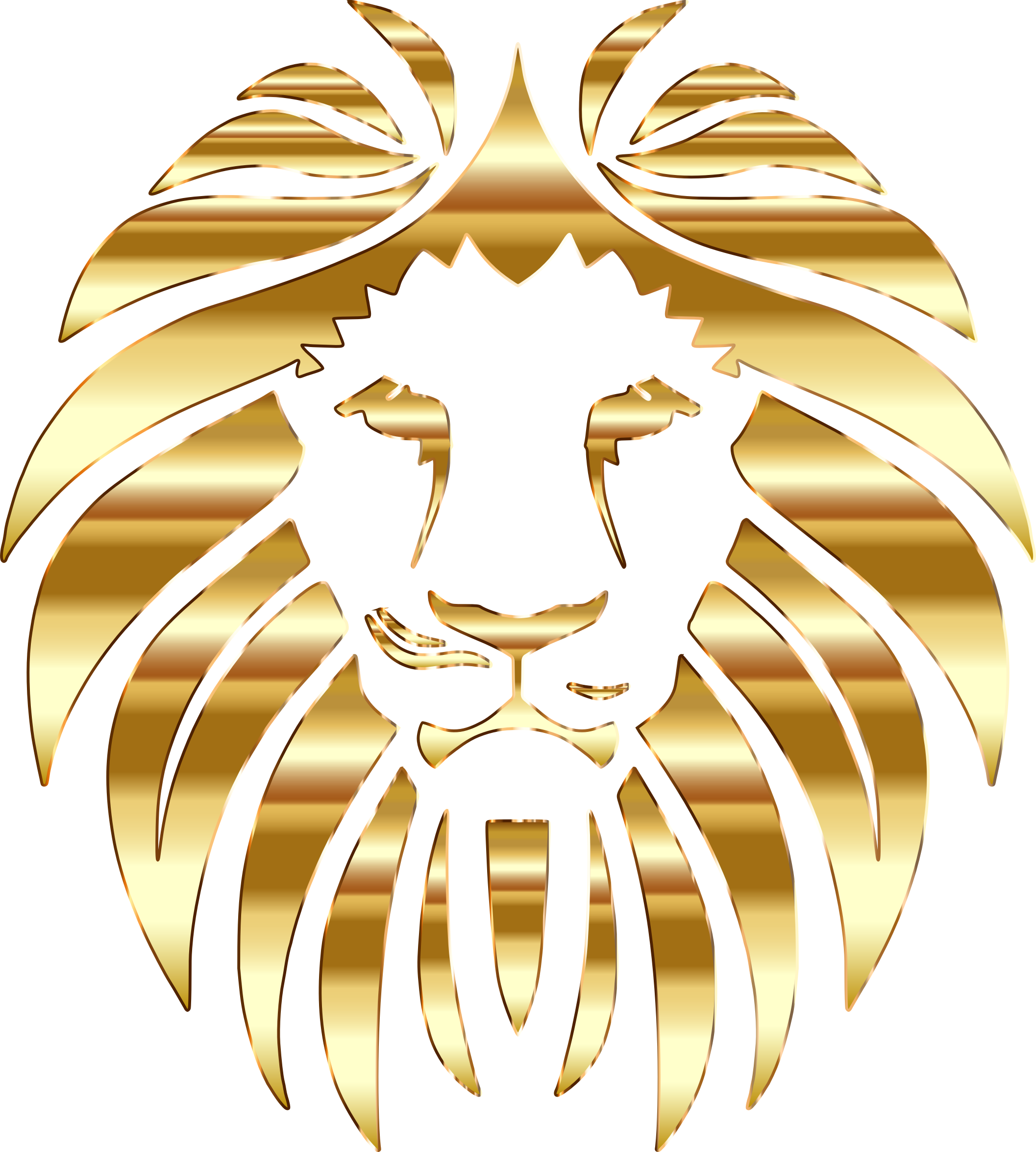 Yellow cat clipart no background graphic royalty free library Clipart - Golden Lion No Background graphic royalty free library