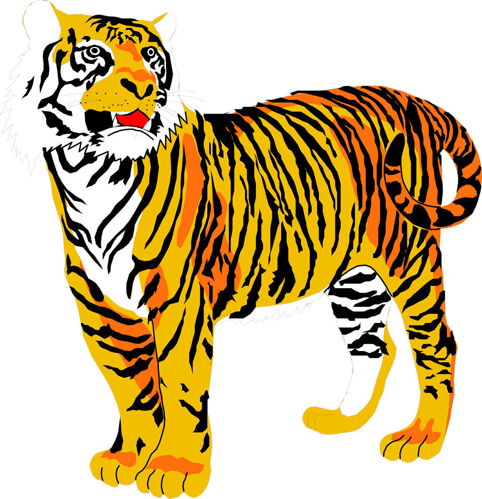 Yellow cat clipart no background jpg stock Tigers | Free Stock Photo | Illustration of a tiger | # 3001 jpg stock