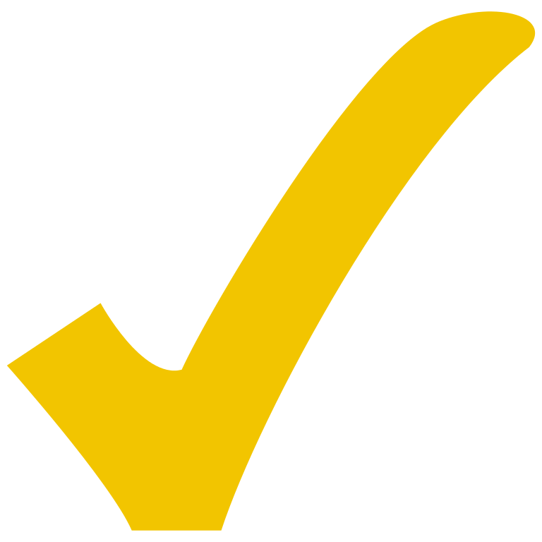 Yellow check mark clipart