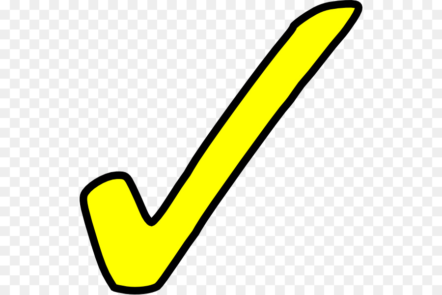 Yellow check mark clipart png free library Yellow Check Mark clipart - Tick, transparent clip art png free library