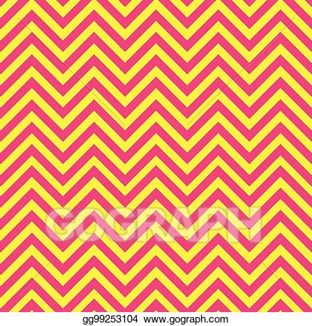 Yellow chevron pattern clipart banner royalty free stock Vector Illustration - Pink and yellow chevron pattern. EPS ... banner royalty free stock