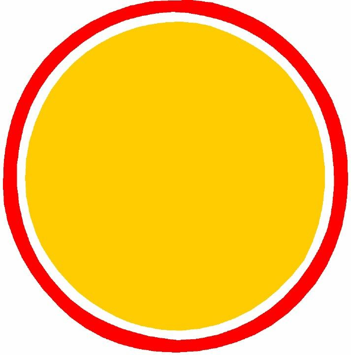 Yellow circle outline clipart banner Yellow circle with red outline | Borders di 2019 banner