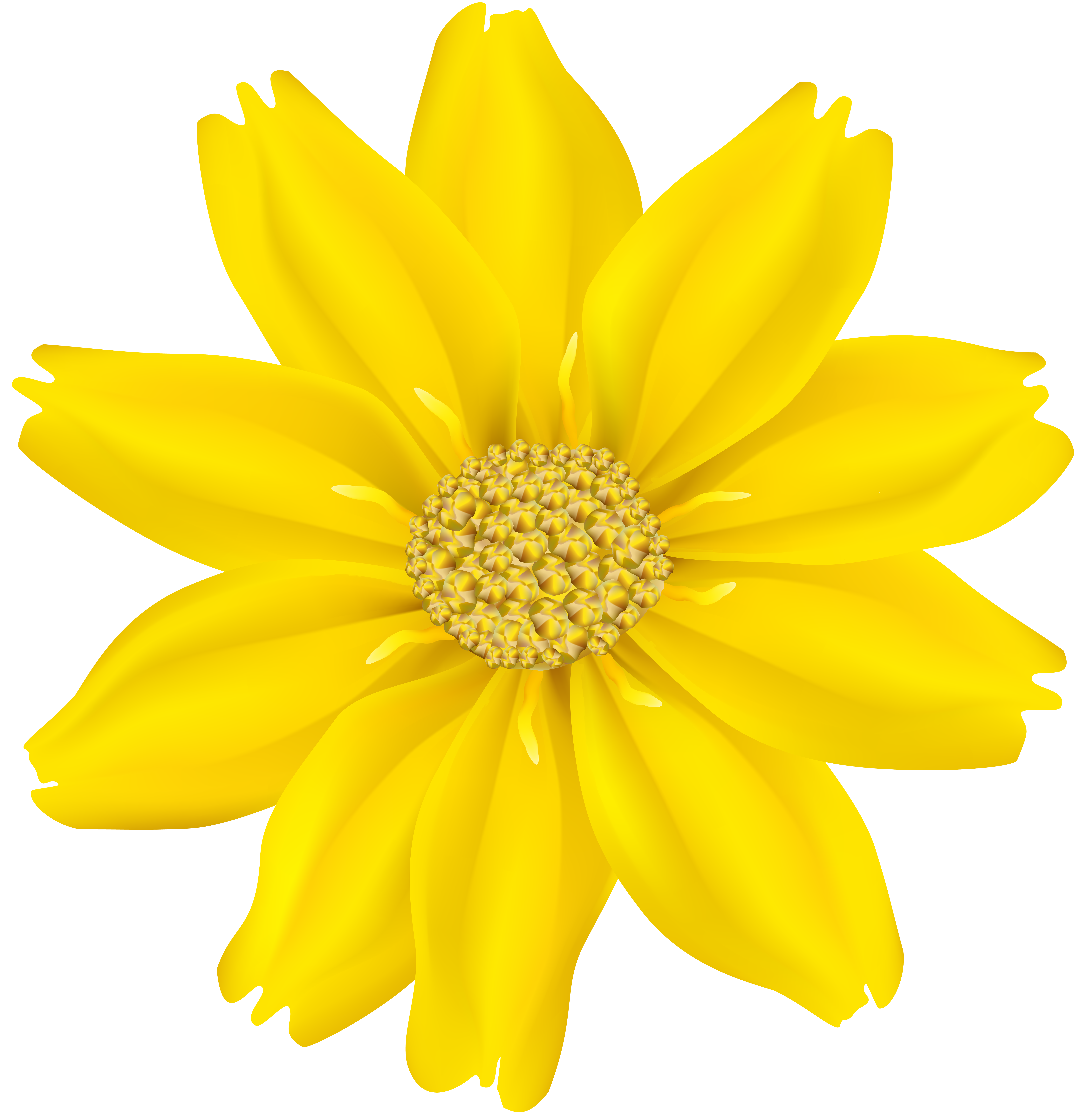 Yellow clipart flower graphic transparent Flower Yellow PNG Transparent Clip Art Image | Gallery Yopriceville ... graphic transparent
