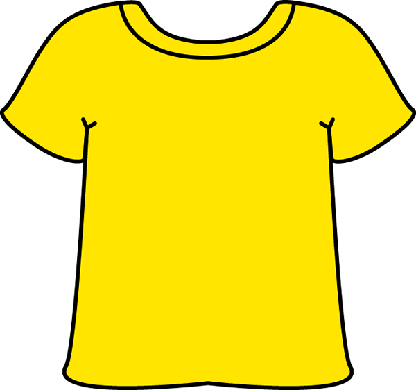 Yellow clipart shirt clip free stock T shirt yellow tshirt clip art image - ClipartBarn clip free stock