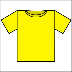 Yellow clipart shirt clip freeuse library Clip Art: T-Shirt Yellow Color I abcteach.com   abcteach clip freeuse library