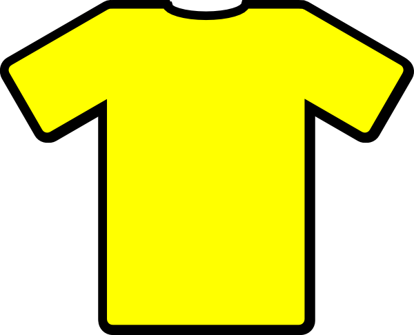 Yellow clipart shirt picture transparent download Yellow Tshirt Clip Art at Clker.com - vector clip art online ... picture transparent download