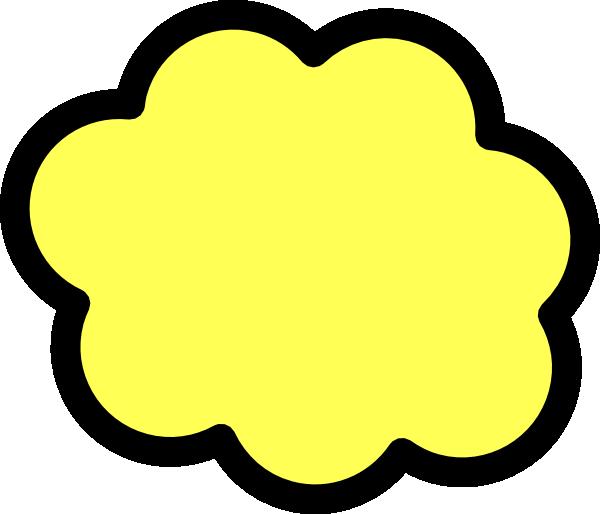 Yellow cloud clipart vector transparent Yellow Cloud Clip Art at Clker.com - vector clip art online ... vector transparent