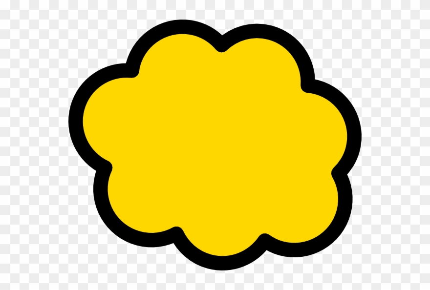 Yellow cloud clipart clip black and white stock Yellow Cloud Vector Png Clipart (#191189) - PinClipart clip black and white stock