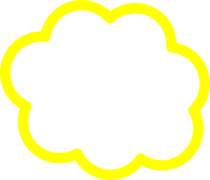 Yellow cloud clipart image black and white library Yellow Cloud Clip Art at Clker.com - vector clip art online ... image black and white library
