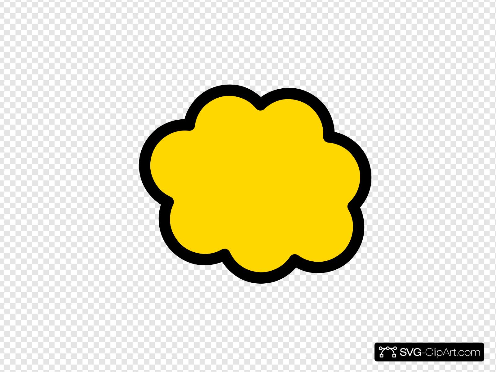 Yellow cloud clipart clip transparent stock Orange-yellow Cloud Clip art, Icon and SVG - SVG Clipart clip transparent stock