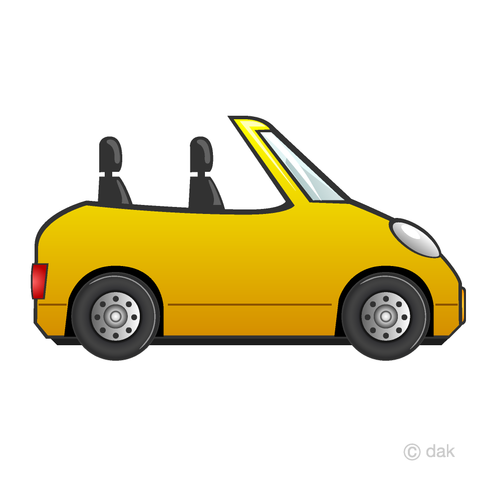 Yellow convertible clipart clip library stock Convertible Car Clipart Free Picture Illustoon clip library stock