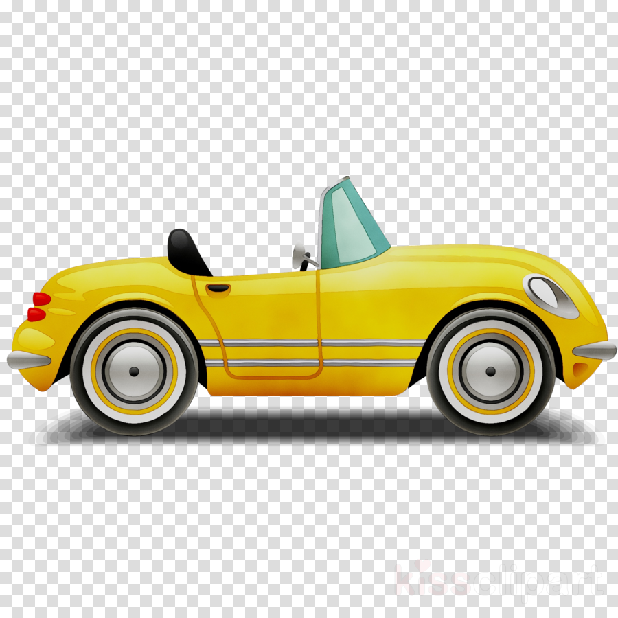 Yellow convertible clipart clip transparent library Download yellow convertible cartoon clipart Car Video clip transparent library