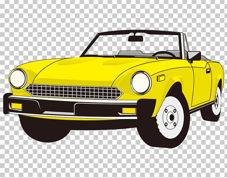 Yellow convertible clipart black and white library Sports Car Ford Mondeo Convertible PNG, Clipart, Automotive ... black and white library