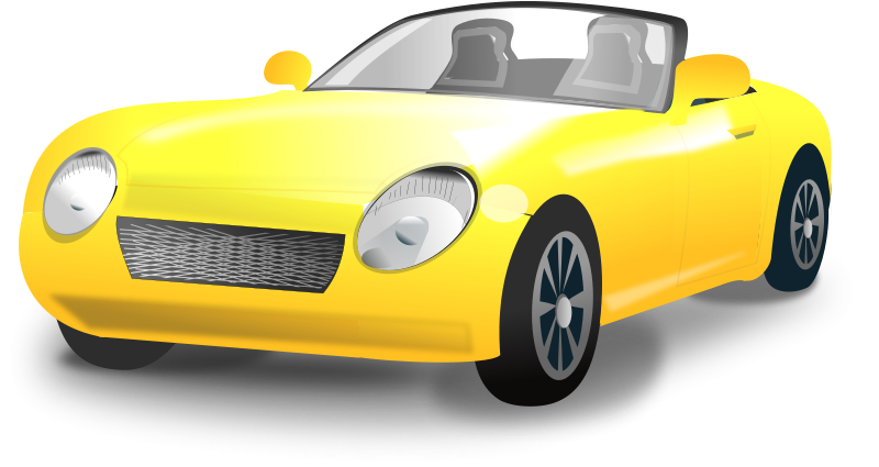 Yellow convertible clipart clip freeuse library Free Clipart: Yellow Convertible sports car   netalloy clip freeuse library