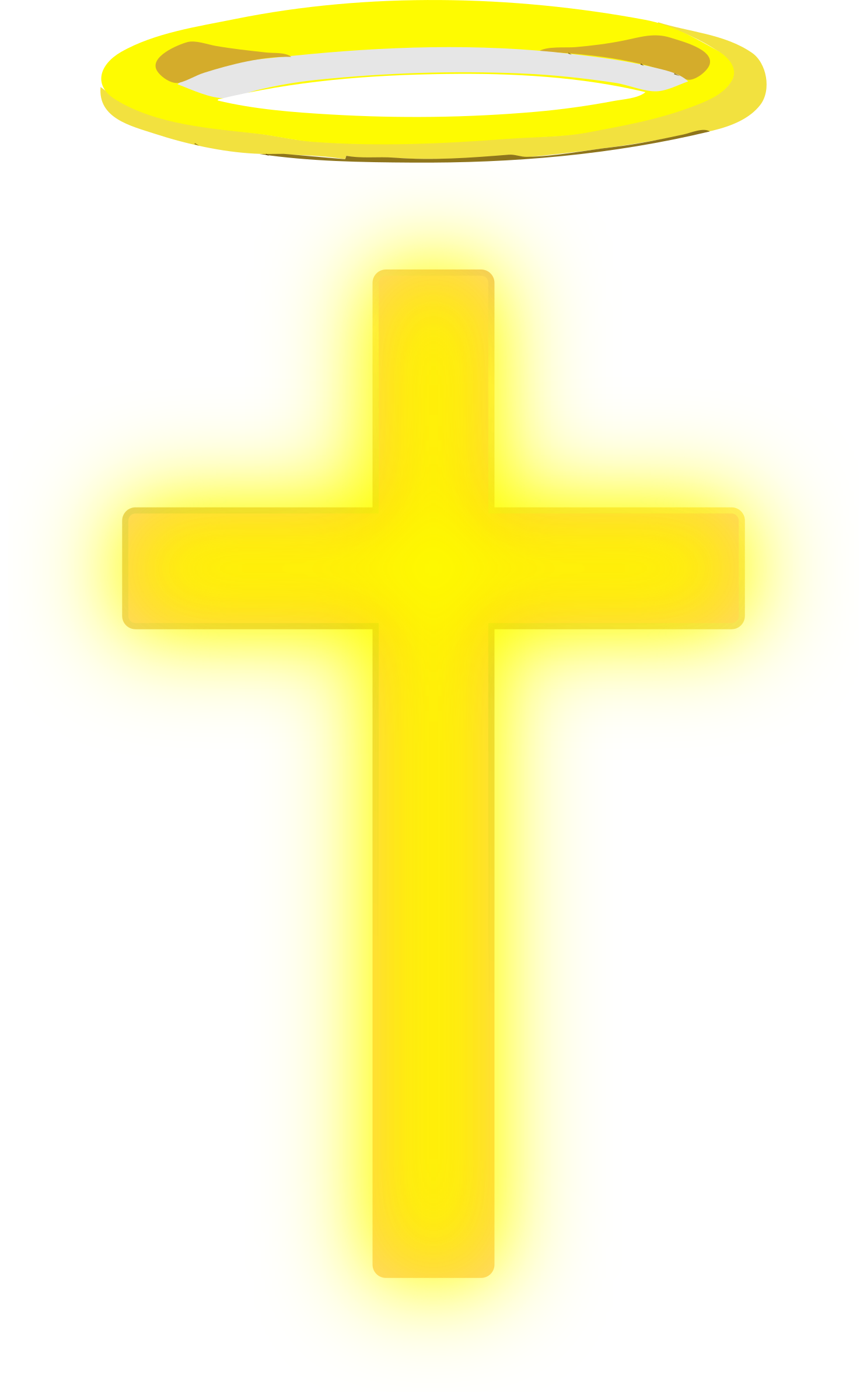 Yellow cross clipart svg free library Clipart - Cross With Halo svg free library