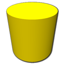 Yellow cylinder clipart