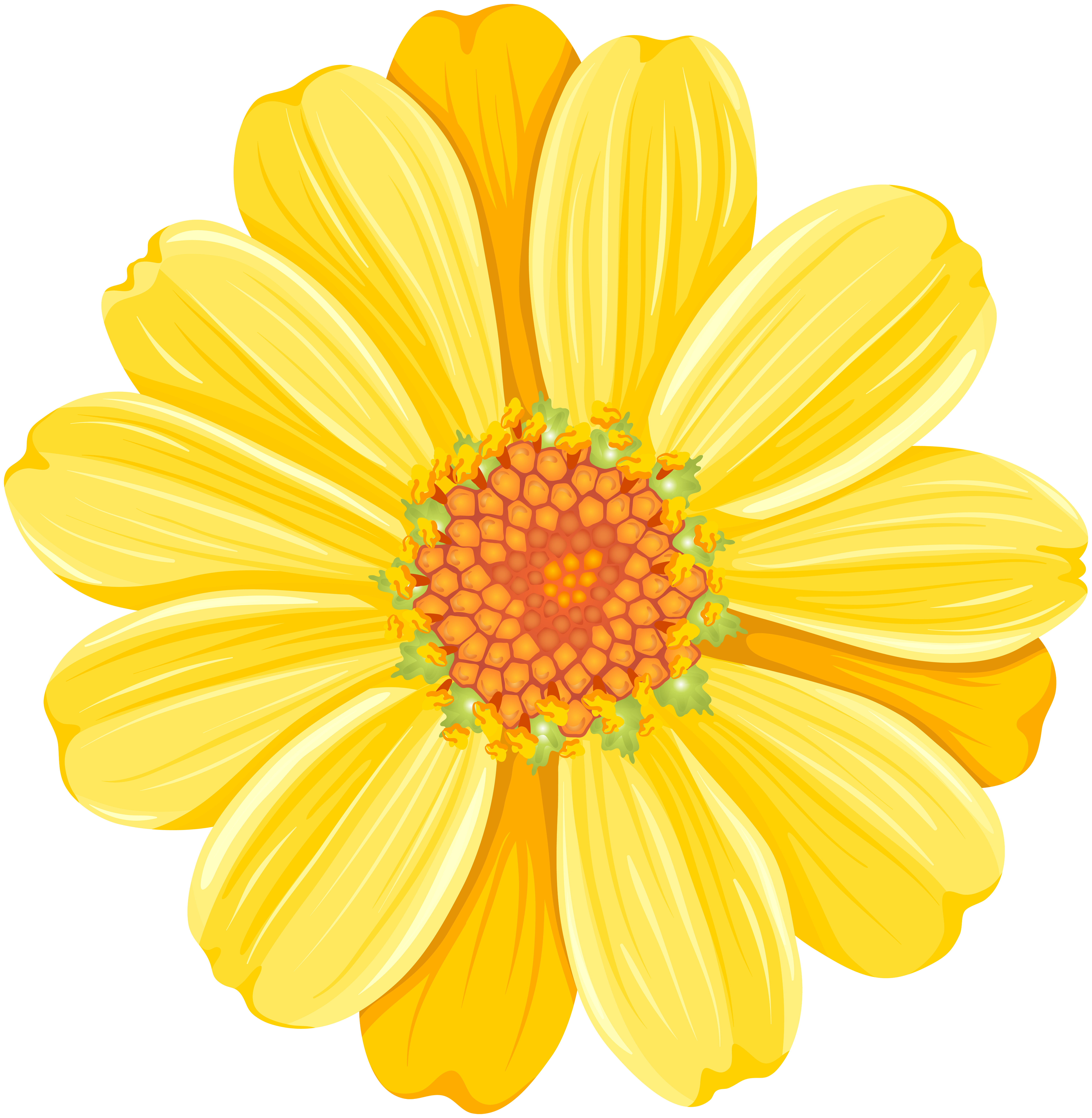 Yellow daisy clipart free banner black and white stock Yellow Daisy PNG Transparent Clip Art Image | Gallery ... banner black and white stock