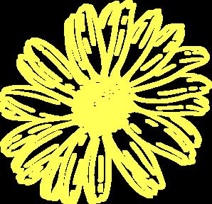 Yellow daisy clipart clip art freeuse library Yellow Daisy Clip Art at Clker.com - vector clip art online ... clip art freeuse library