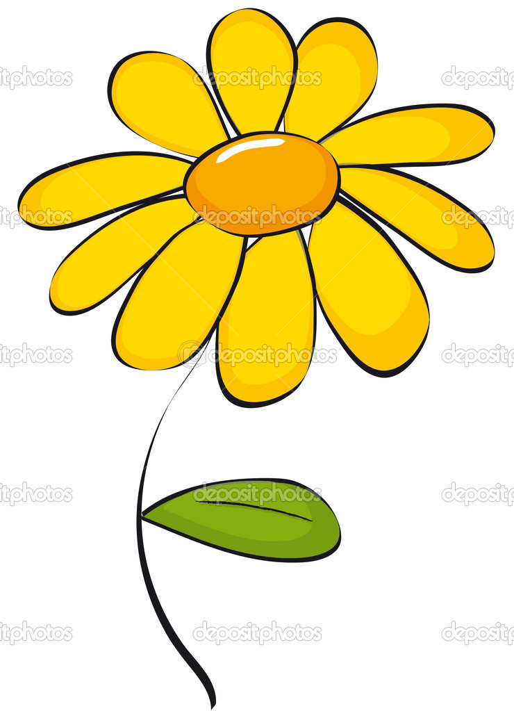 Yellow daisy clipart clip art library library Yellow daisy clipart kid - Cliparting.com clip art library library