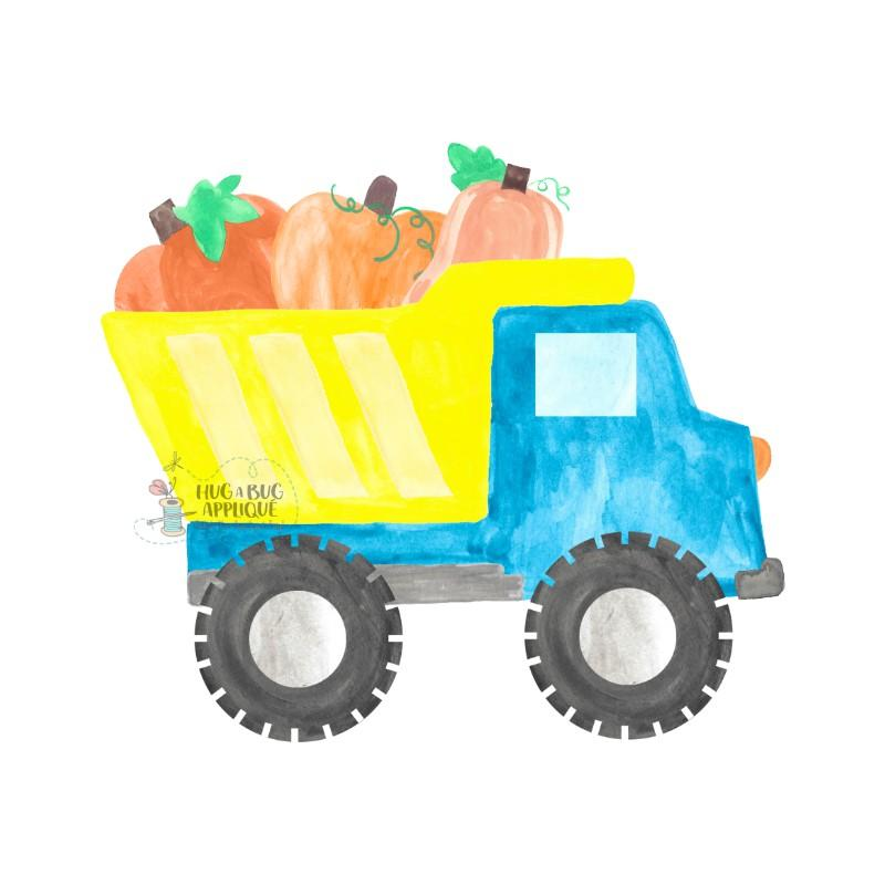 Yellow dump truck clipart svg transparent stock Dump Truck Pumpkins Watercolor Clipart svg transparent stock
