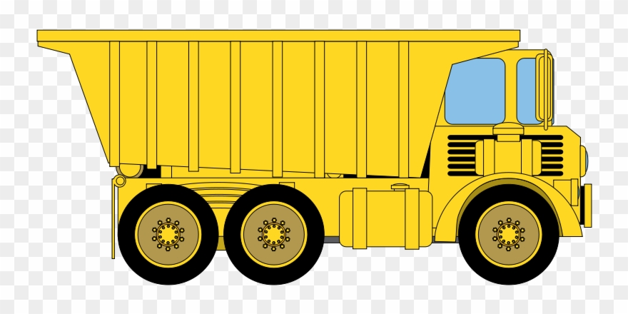 Yellow dump truck clipart png freeuse stock Truck Black And White Fire Truck Clipart Black And - Yellow ... png freeuse stock