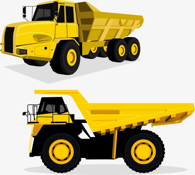 Yellow dump truck clipart image freeuse download Vector Yellow Dump Truck, Truck Vector, #55352 - PNG Images ... image freeuse download