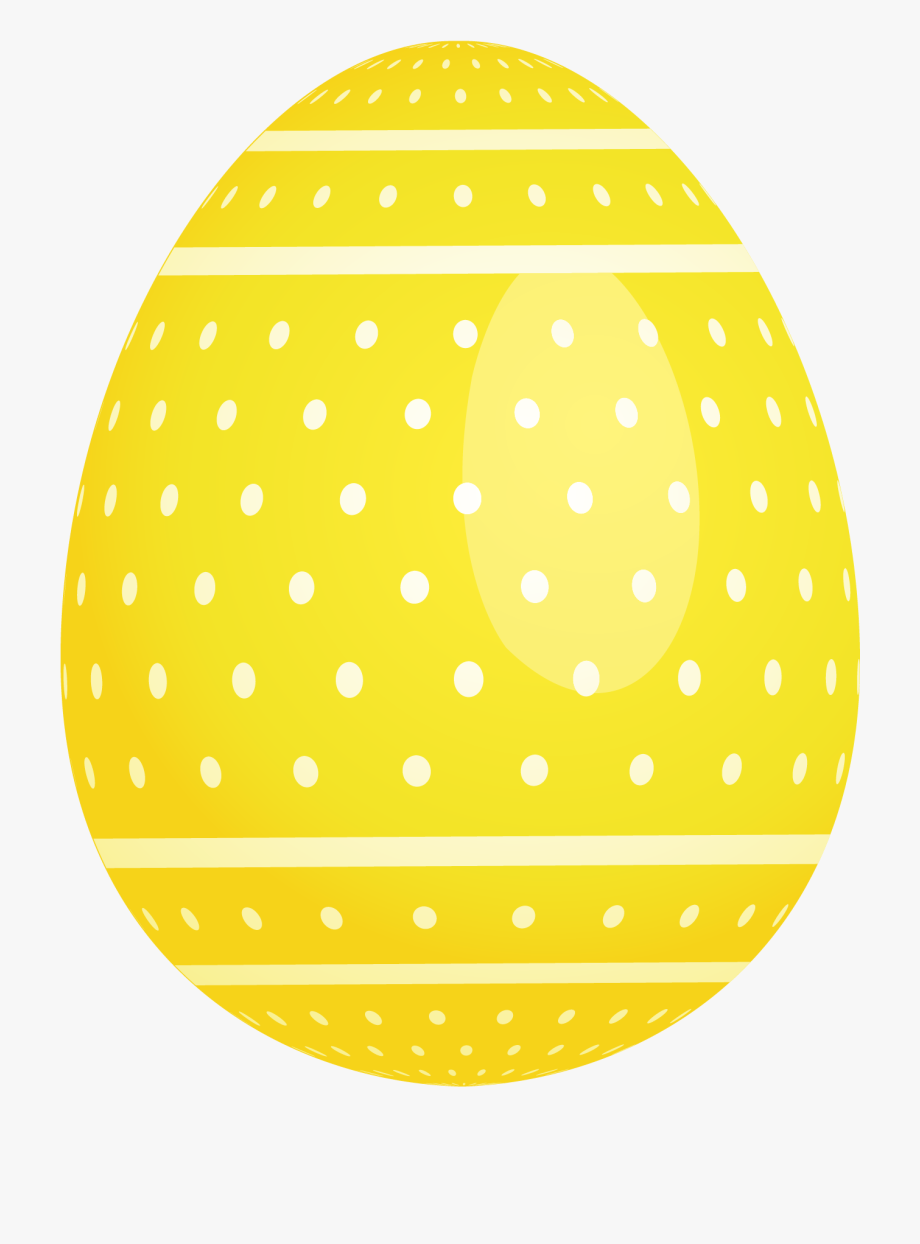 Yellow easter egg clipart vector transparent download Yellow Dotted Easter Egg Png Picture - Easter Egg Png Art ... vector transparent download