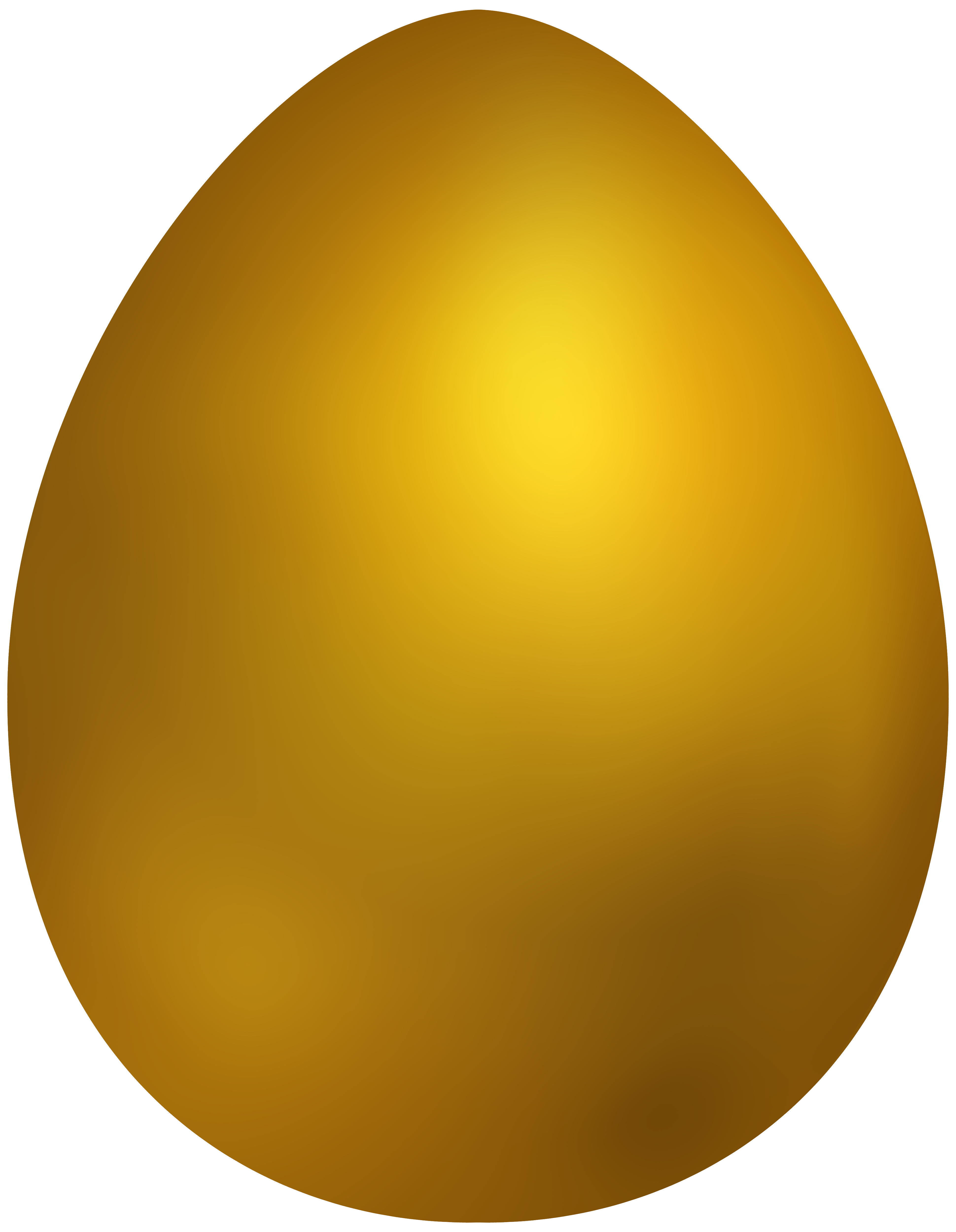 Yellow easter egg clipart