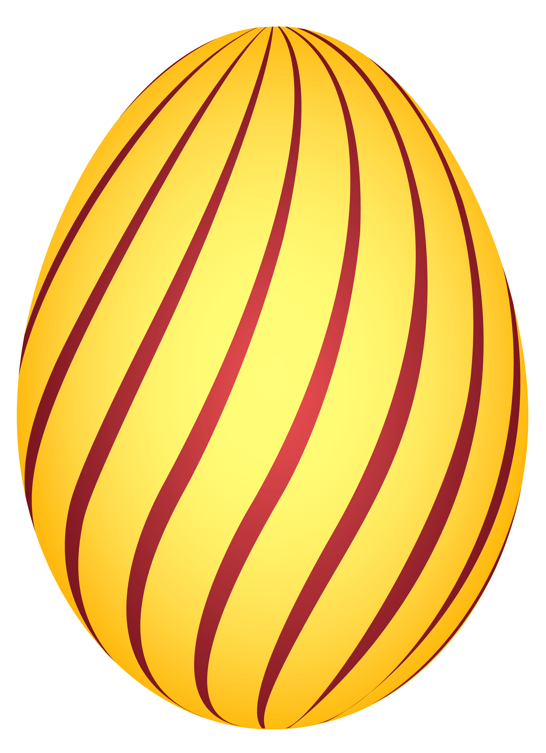 Yellow easter egg clipart png clip library library Yellow Striped Easter Egg PNG Clipairt Picture clip library library