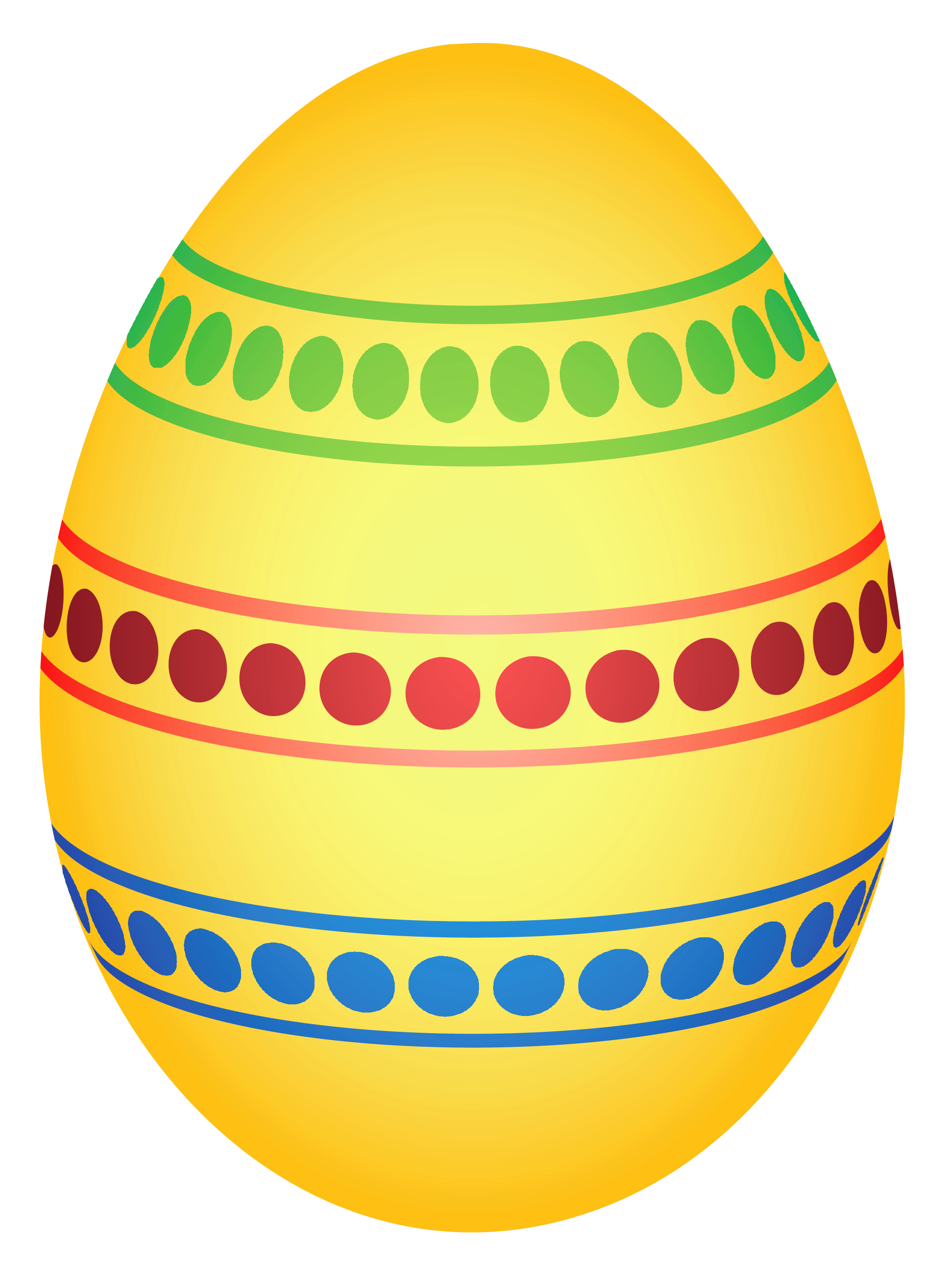 Yellow easter egg clipart png free Yellow Colorful Dotted Easter Egg PNG Clipairt Picture free
