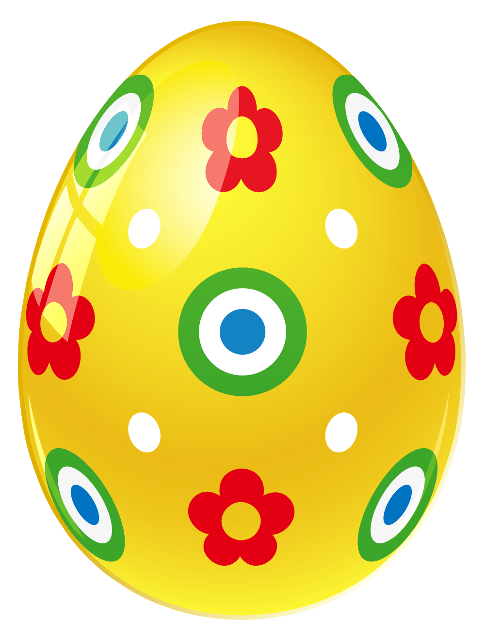 Yellow easter egg clipart png graphic freeuse Yellow Easter Egg with Flowers PNG Picture graphic freeuse