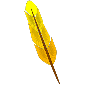 Yellow feather clipart jpg black and white stock Yellow feather clipart, cliparts of Yellow feather free ... jpg black and white stock