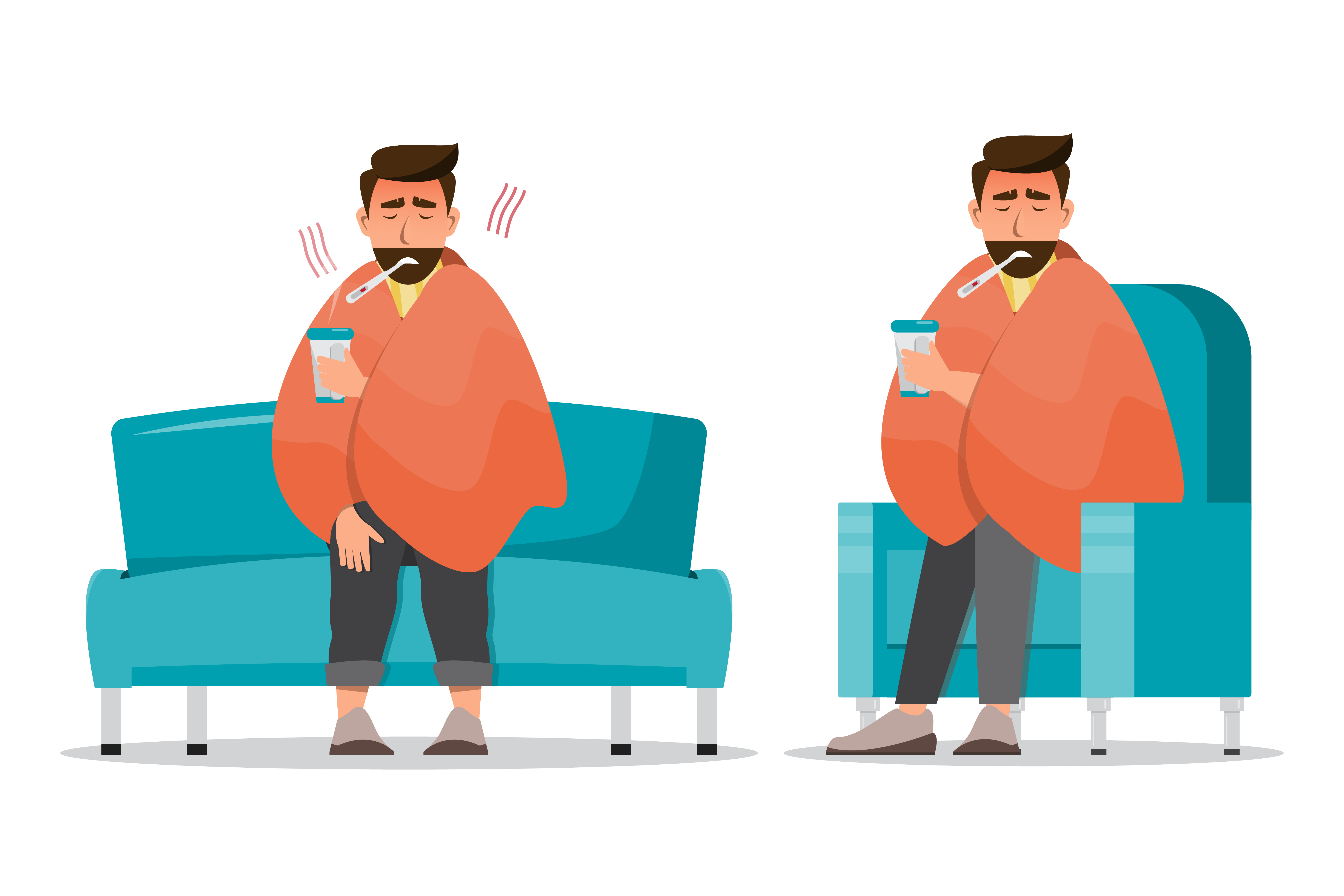 Yellow fever sick people clipart image library stock sick man having a cold sit in the room - Download Free ... image library stock