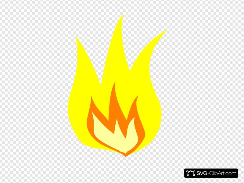 Yellow fire clipart vector royalty free download Yellow Fire Clip art, Icon and SVG - SVG Clipart vector royalty free download