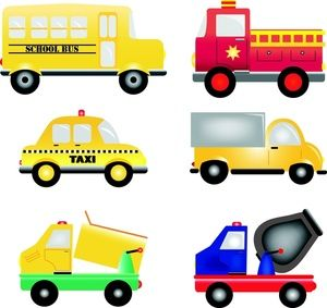 Yellow fire truck clipart free vector free Vehicles Clipart Image: Cartoon trucks, busses and cars ... vector free