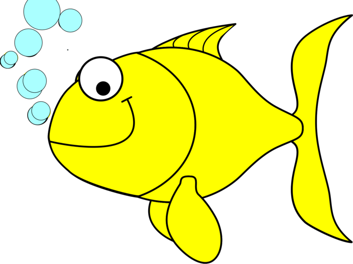 Yellow fish clipart svg library stock Yellow Fish Clipart - BClipart svg library stock