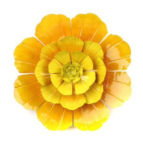 Yellow flower artwork svg library stock Yellow Flower Ombre Metal Wall Art | Kirklands | Home | Pinterest ... svg library stock