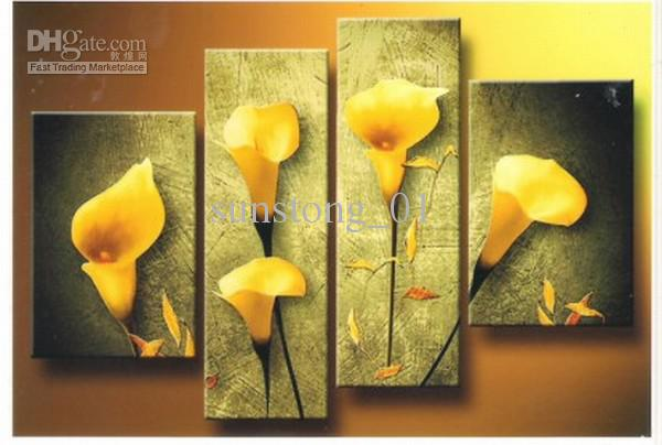 Yellow flower artwork picture transparent 2017 Warn Yellow Flower Art Group Oil Painting Home Decoration ... picture transparent