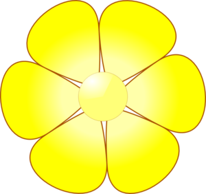 Yellow flower artwork graphic library Yellow flower clipart png - ClipartFest graphic library