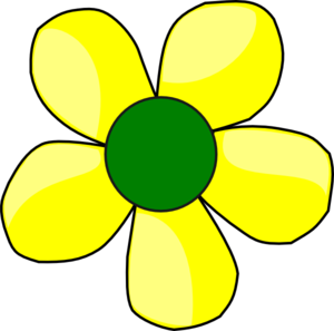 Yellow flower artwork png download Yellow Flower Clip Art at Clker.com - vector clip art online ... png download