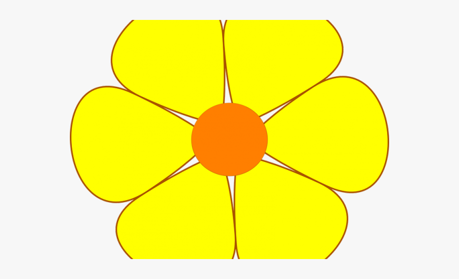 Yellow flower clipart images svg black and white Yellow Flower Clipart Yellow Daisy - Circle #2596043 - Free ... svg black and white