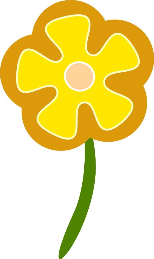 Yellow flower clipart png banner transparent download Retro Flower Clipart | Free Download Clip Art | Free Clip Art | on ... banner transparent download