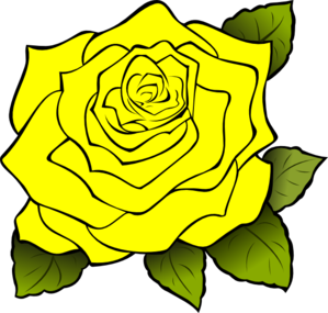 Yellow flower clipart png image royalty free Yellow Rose Clip Art at Clker.com - vector clip art online ... image royalty free