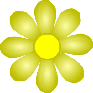 Yellow flower clipart png banner black and white library Yellow Flower Clip Art at Clker.com - vector clip art online ... banner black and white library