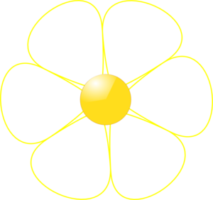 Yellow flower clipart png svg stock White flower clipart png - ClipartFest svg stock